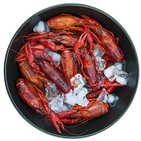 20 lbs. of Whole Cooked Crawfish