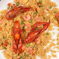 crawfish paella