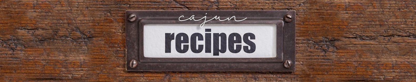Cajun recipe header