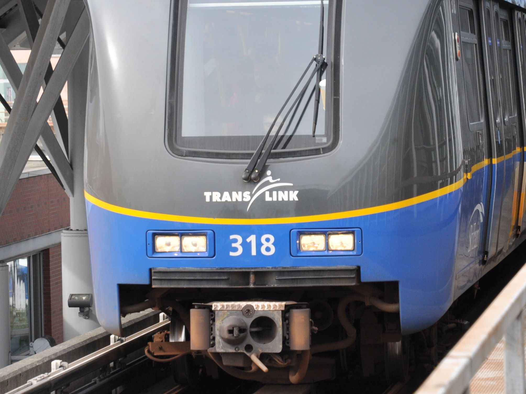 A Translink train at a platform