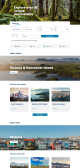 A screenshot of a destination page from the new BC Ferries website