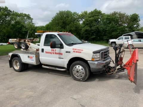 2004 Ford F450 Tow Truck 4x4 Auto Diesel truck for sale Exira, IA - stock number 4030