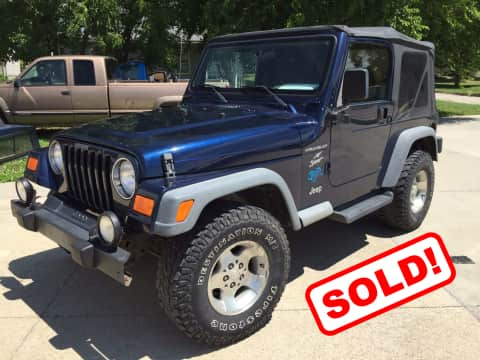 2002 Jeep Wrangler suv for sale Any Town, IA - stock number 3787