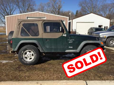 1999 Jeep Wrangler suv for sale Guthrie Center, IA - stock number 3877