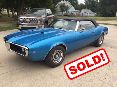 1967 Pontiac  Firebird  classic for sale Guthrie Center, IA - stock number 3908