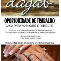 Vaga Emprego Manicure e pedicure Santo Antônio SAO CAETANO DO SUL São Paulo ESMALTERIA Dagab