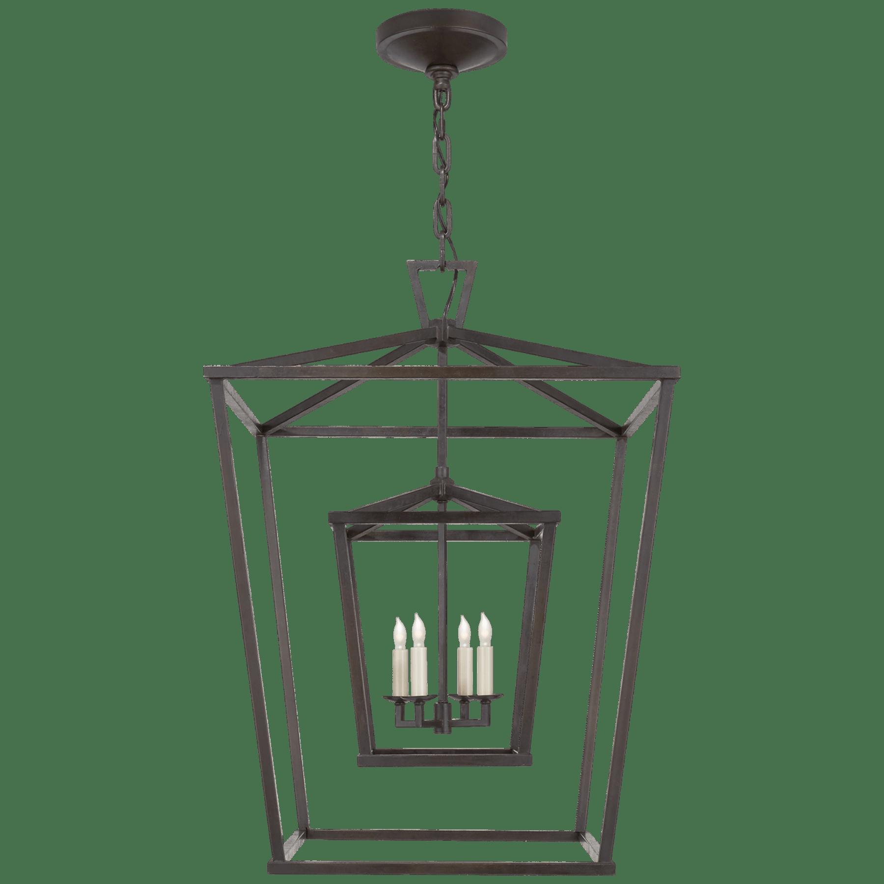 Darlana Large Double Cage Lantern Lantern Ceiling