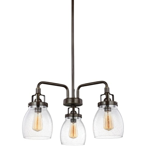Belton Three Light Chandelier Heirloom Bronze