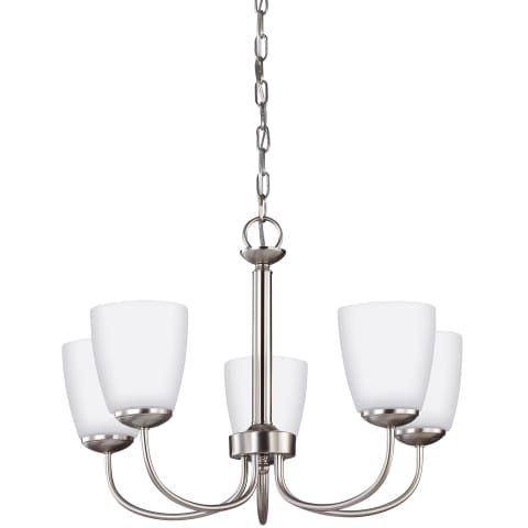 Bannock Five Light Chandelier Brushed Nickel Bulbs Inc