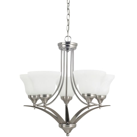 Brockton Five Light Chandelier Brushed Nickel
