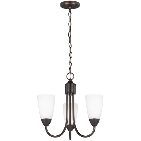 Seville Three Light Chandelier Bronze Bulbs Inc