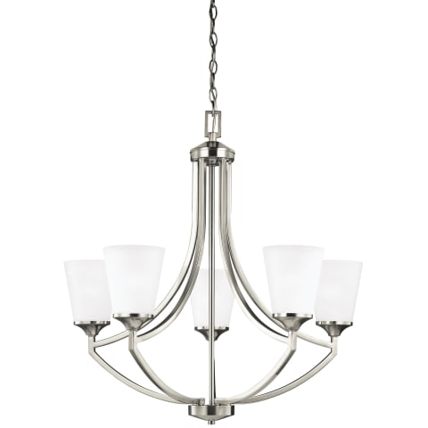 Hanford Five Light Chandelier Brushed Nickel