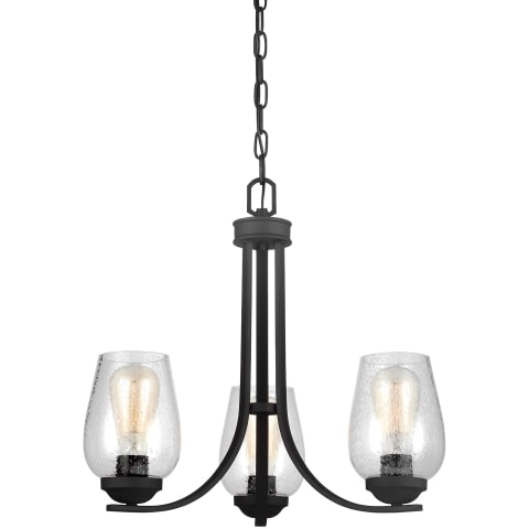 Morill Three Light Chandelier Blacksmith