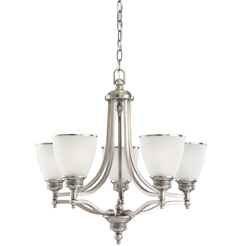 Laurel Leaf Five Light Chandelier Antique Brushed Nickel