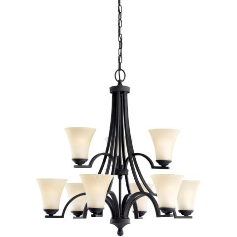 Somerton Nine Light Chandelier Blacksmith Bulbs Inc