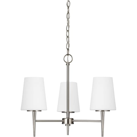Driscoll Three Light Chandelier Satin Bronze