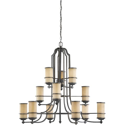 Roslyn Twelve Light Chandelier Flemish Bronze Bulbs Inc