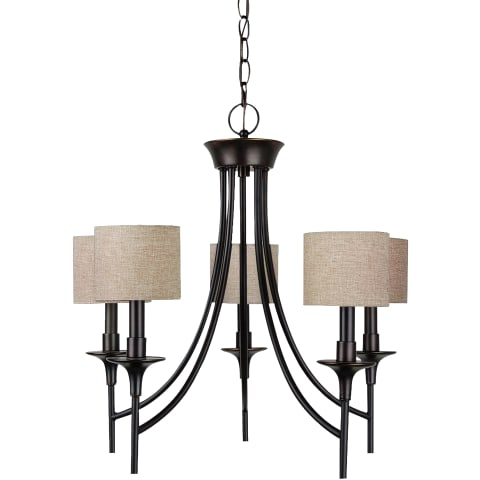 Stirling Five Light Chandelier Burnt Sienna