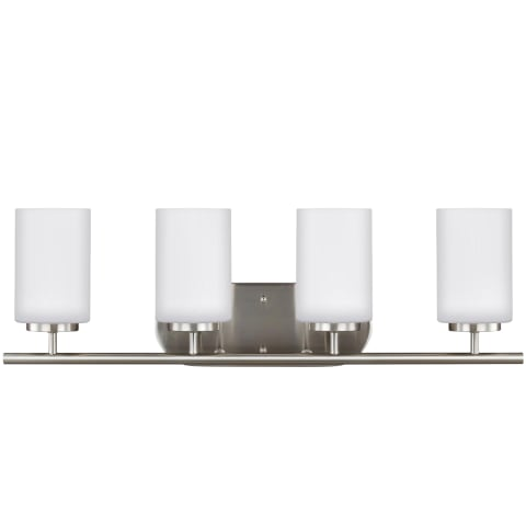 Oslo Four Light Wall / Bath Brushed Nickel