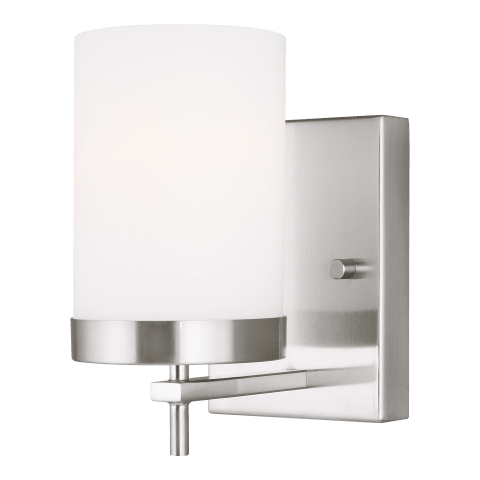 Zire One Light Wall / Bath Sconce Brushed Nickel
