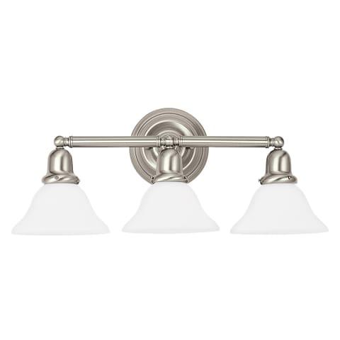 Sussex Three Light Wall / Bath Brushed Nickel Bulbs Inc
