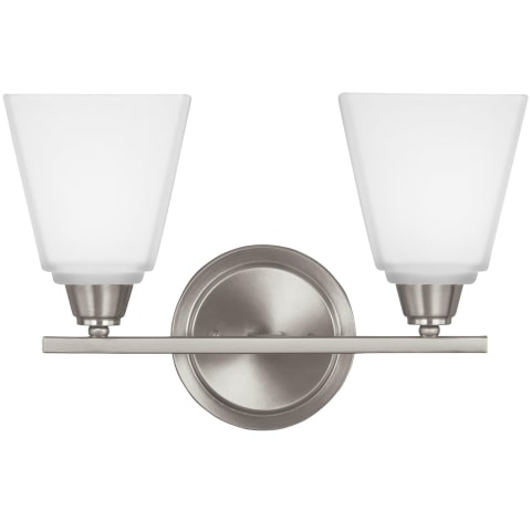 Parkfield Two Light Wall / Bath Brushed Nickel