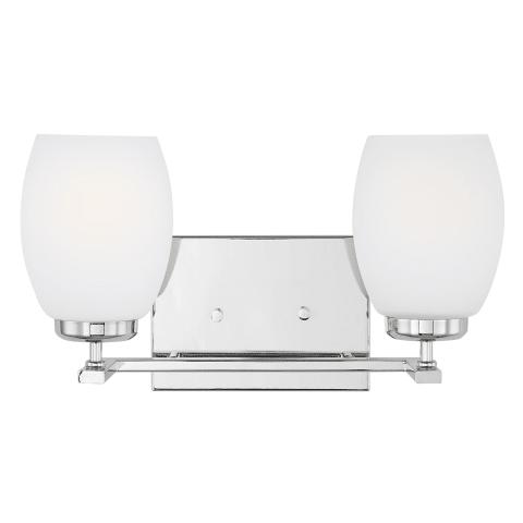 Catlin Two Light Wall / Bath Chrome Bulbs Inc