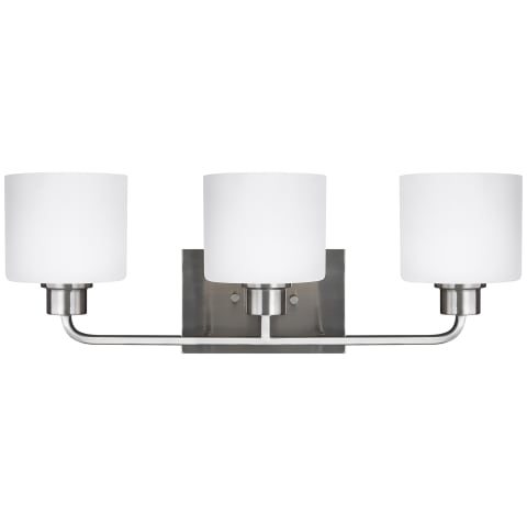 Canfield Three Light Wall / Bath Brushed Nickel