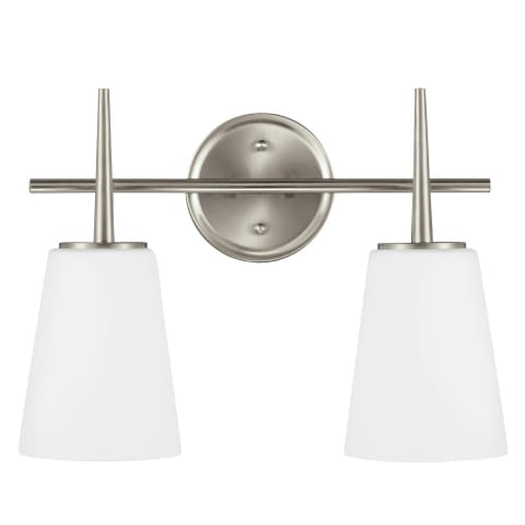 Driscoll Two Light Wall / Bath Brushed Nickel