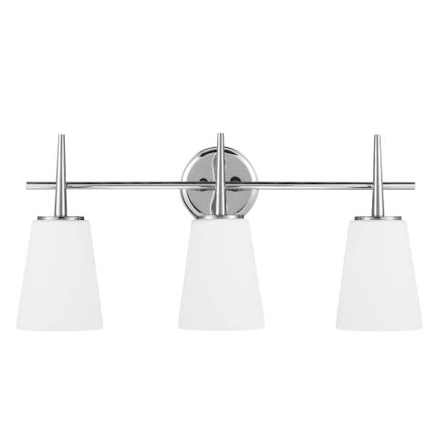Driscoll Three Light Wall / Bath Chrome