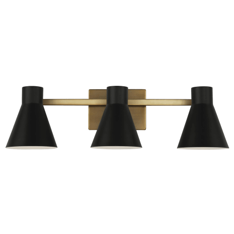 Towner Three Light Wall / Bath Satin Brass Bulbs Inc