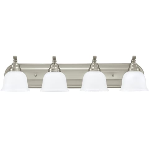 Wheaton Four Light  Wall / Bath Brushed Nickel Bulbs Inc