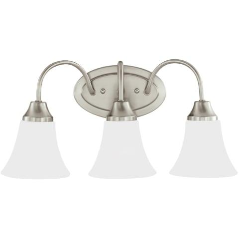 Holman Three Light Wall / Bath Brushed Nickel Bulbs Inc