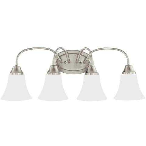 Holman Four Light Wall / Bath Brushed Nickel Bulbs Inc