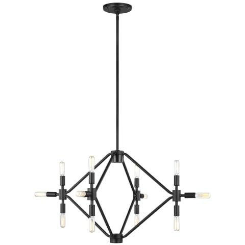 Wyn Small Twelve Light Chandelier Midnight Black Bulbs Inc