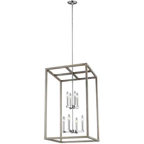 Moffet Street Eight Light Hall / Foyer Washed Pine