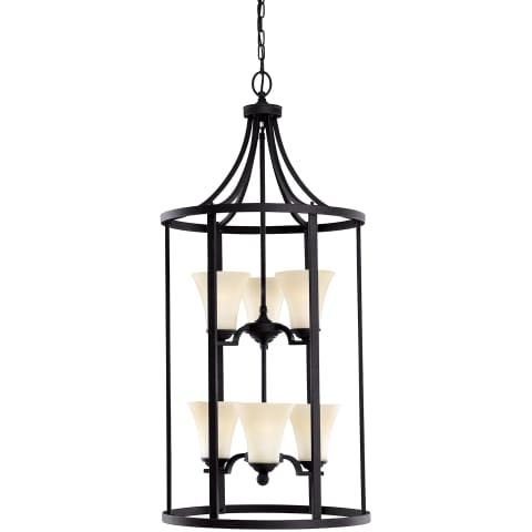 Somerton Six Light Hall / Foyer Blacksmith Bulbs Inc