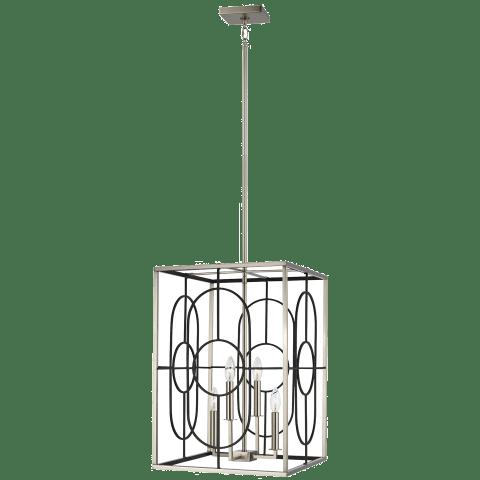 Rennie Medium Four Light Hall / Foyer Brushed Nickel Bulbs Inc
