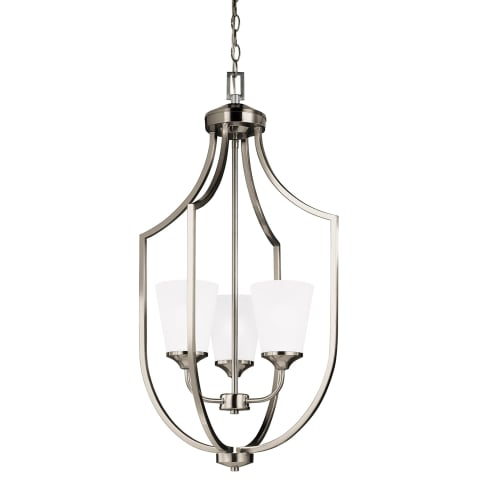 Hanford Three Light Hall / Foyer Brushed Nickel