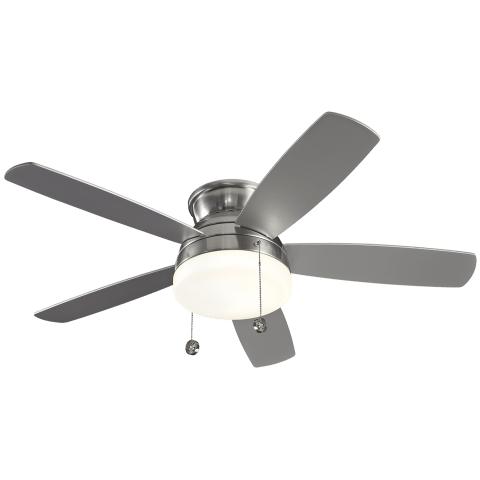 "52"" Traverse Semi-Flush Fan -  Brushed Steel"