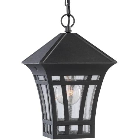 Herrington One Light Outdoor Pendant Black