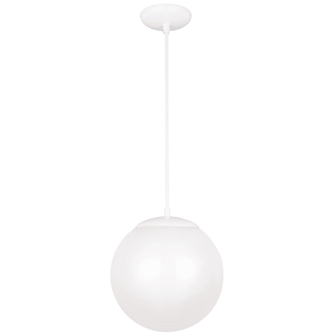 Leo - Hanging Globe One Light Pendant White