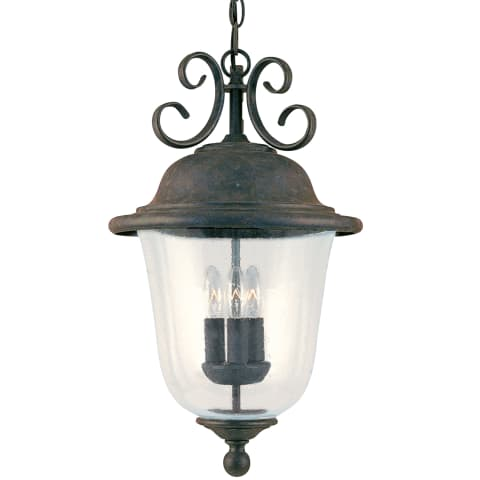 Trafalgar Three Light Outdoor Pendant Oxidized Bronze