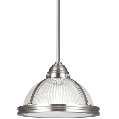 Pratt Street Prismatic One Light Pendant Brushed Nickel