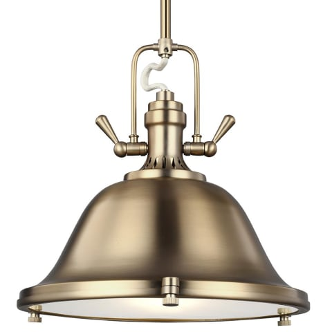 Stone Street Three Light Pendant Brushed Nickel
