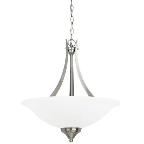 Brockton Three Light Pendant Brushed Nickel