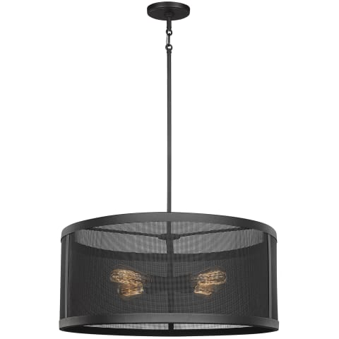 Gereon Four Light Pendant Black
