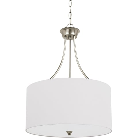 Stirling Three Light Pendant Brushed Nickel Bulbs Inc