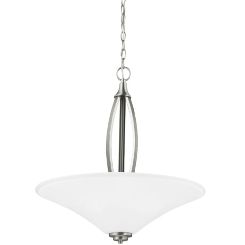 Metcalf Three Light Pendant Brushed Nickel