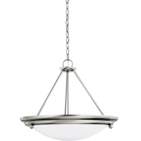 Centra Three Light Pendant Brushed Stainless